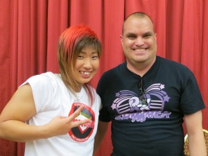 Was lucky enough to meet and get a picture with rising star Takumi Iroha.