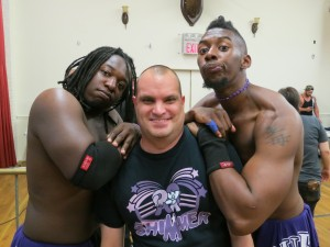 Nate Carter & David McCall had a great showing in their match and were a riot hanging out and taking pictures with fans at intermission. Nice, approachable guys with a lot of potential. Hope to see more of their work.