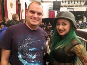 Pic with Shotzi Blackheart. Hope to see her return.
