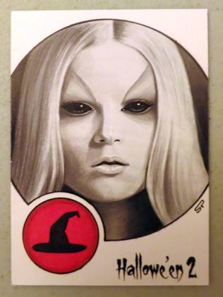 Hallowe'en 2 sketch card by Sean Pence.