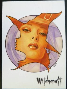 Witchcraft sketch card by Sean Pence.