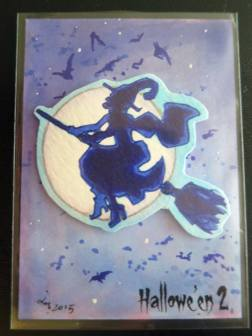 Hallowe'en 2 sketch card by Liz Chesterman.