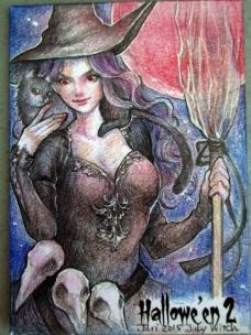Hallowe'en 2 sketch card by Juri Chinchilla.