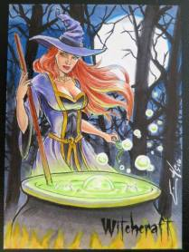 Witchcraft sketch card by Eric McConnell.