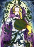 Witchcraft spot foil card by Samantha Johnson.