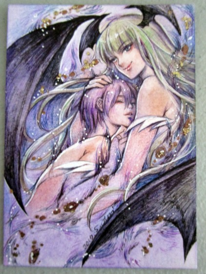 Morrigan and Lilith Aensland PSC by Juri Chinchilla.