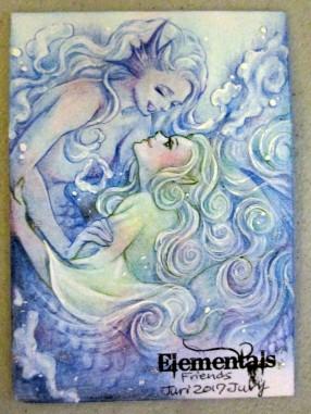 """Friends"" wind and water Elementals AP by Juri Chinchilla."