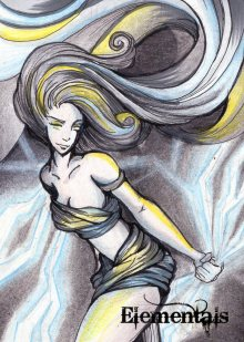 Wind sketch card by Alexis Hill.