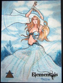 Wind sketch card by Arwenn Necker.