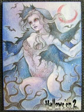 """""""Wraith"""" Hallowe'en 2 sketch card by Juri Chinchilla."""
