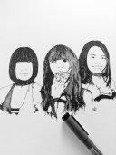 Mika Iida, Maho Kurone, and Aoi Kizuki by Shining Wizard Designs.