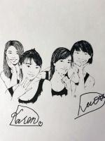 Team DATE (Nori, Karen, Hana, and Nao) by Shining Wizard Designs.